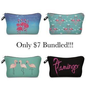 Handbags - Flamingo Cosmetics Bag Toiletry Organizer Clutch